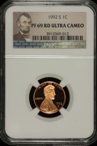 Lincoln Memorial Cent.  1992 S Ngc Pf69 Red Ultra Cameo Lable 012 photo