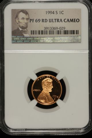Lincoln Memorial Cent.  1994 S Ngc Pf69 Red Ultra Cameo Lable 029 photo