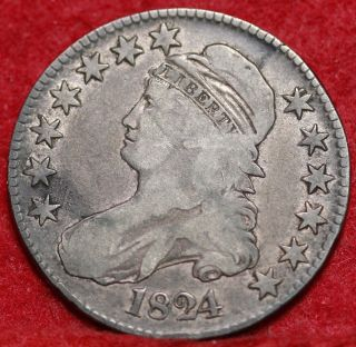1824 Silver Bust Half Dollar S/h photo