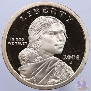 2004 S Native American Sacagawea Dollar Gem Deep Cameo Proof Us Coin photo