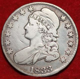1833 Silver Bust Half Dollar S/h photo