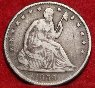 1859 - O Silver Seated Liberty Half Dollar photo