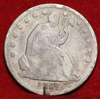 1866 Silver Seated Liberty Half Dollar photo
