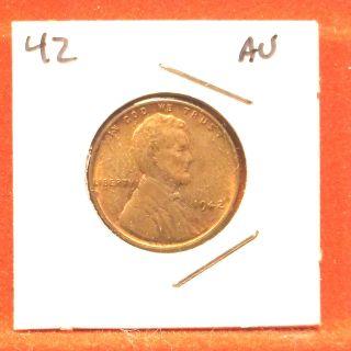 1942 Lincoln Cent,  Au photo