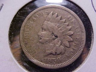 1859 Indian Head Cent Vg Detail.  99c photo