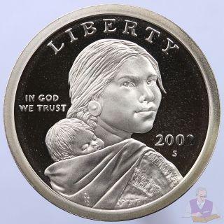 2002 S Native American Sacagawea Dollar Gem Deep Cameo Proof Us Coin photo