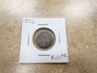 1856 Three 3 Cent Silver Coin photo