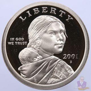 2001 S Native American Sacagawea Dollar Gem Deep Cameo Proof Us Coin photo