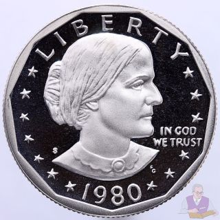 1980 S Susan B.  Anthony Dollar Gem Deep Cameo Proof Cn - Clad Us Coin photo