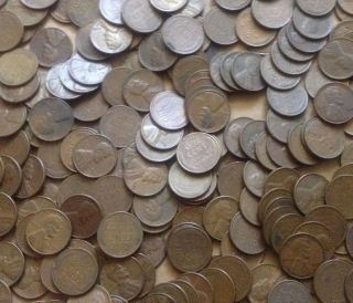 100 Unsearched Lincoln Wheat Cents