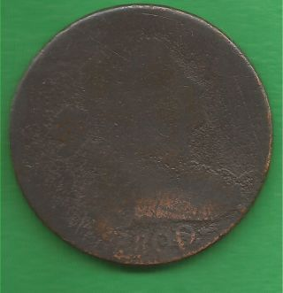 1800 Draped Bust,  Large Cent - 214 Years Old photo