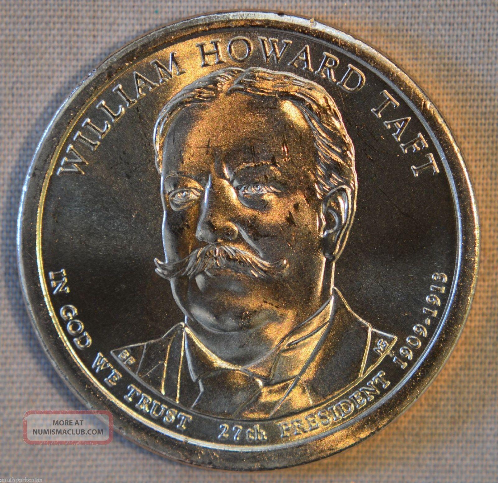 2013 - D William Howard Taft Uncirculated Presidential Dollar - Single Dollars photo