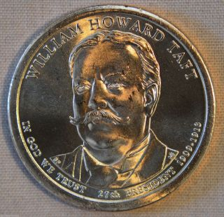 2013 - D William Howard Taft Uncirculated Presidential Dollar - Single photo