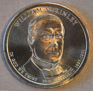 2013 - D William Mckinley Uncirculated Presidential Dollar - Single photo