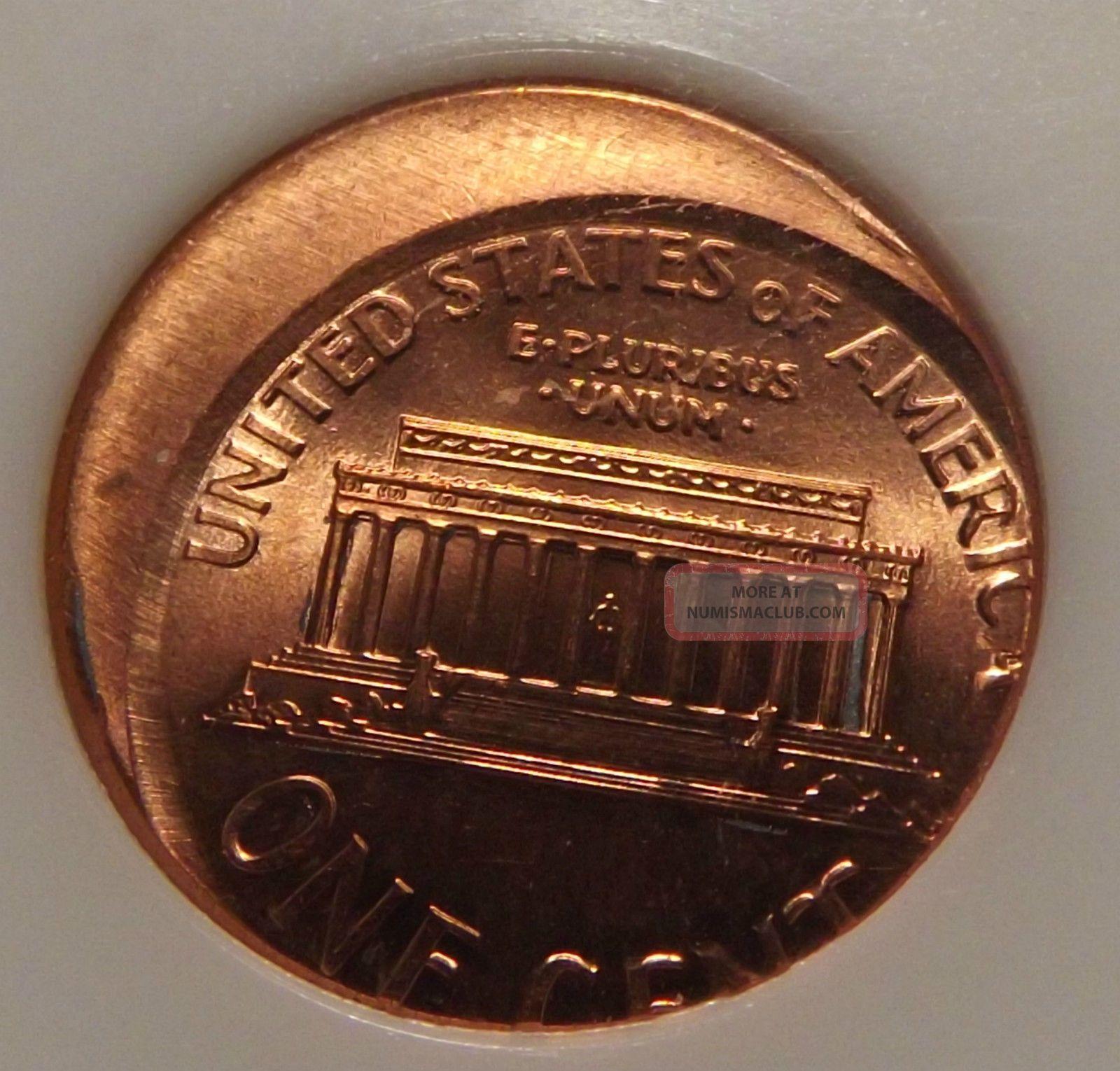 Pci 2000 Lincoln Memorial Cent Ms 65 Error Penny  Off Center