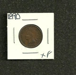 1890 Indian Head Cent - Xf - Strong Eye Appeal And Color photo