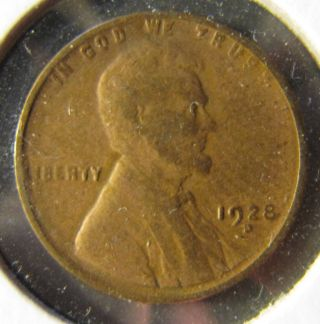 1928 D Lincoln Wheat Penny photo