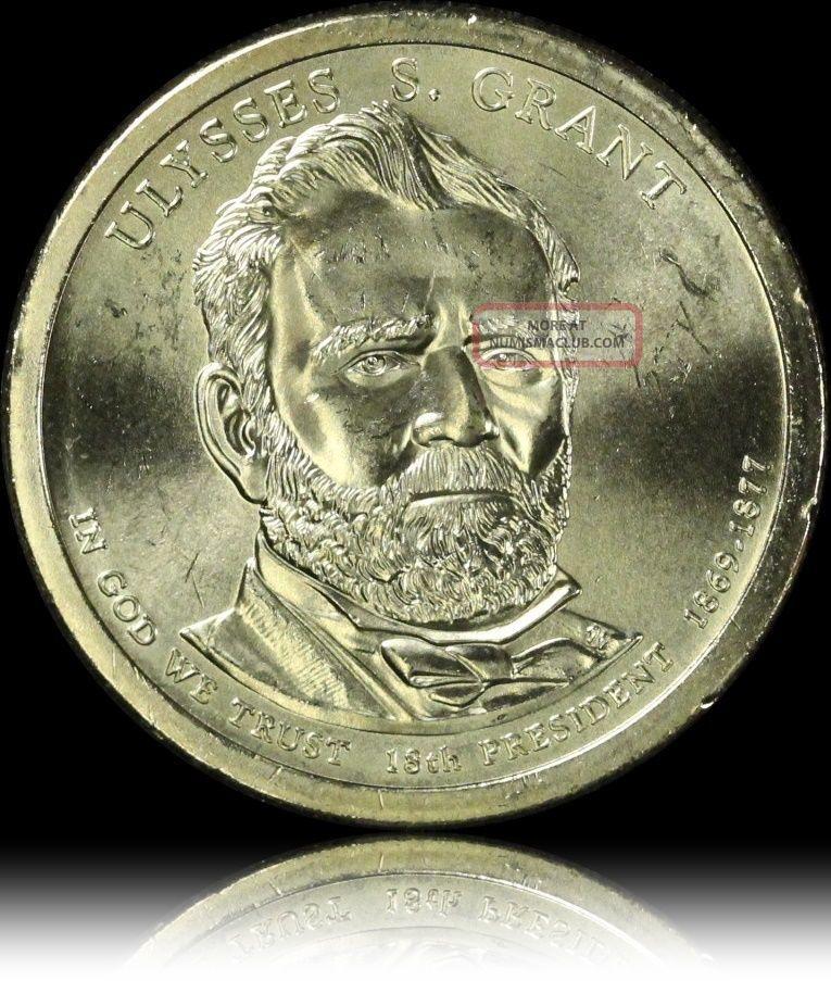 Grant Gem Luster Presidential Usa Dollar Coin L30 Dollars photo