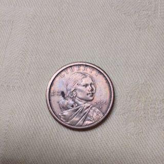 Sacajawea Dollar Native American 2000 P Liberty One Us Dollar Coin photo