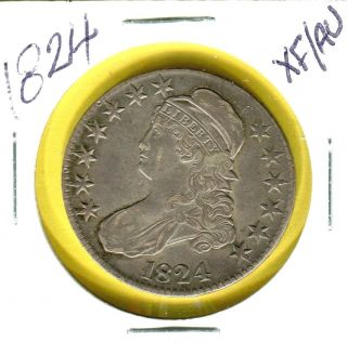 1824 Bust Capped Half Dollar photo