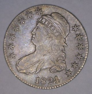 1824/1 Capped Bust Half Dollar In Extremely Fine Overton 101a R2 photo