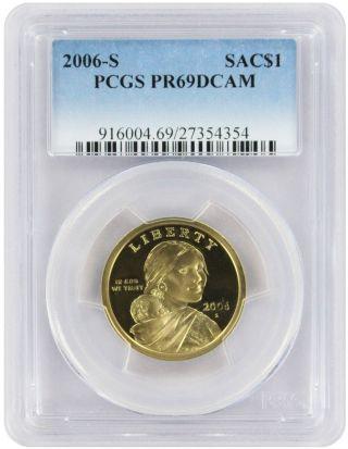 2006 - S Sacagawea Dollar Pr69dcam Pcgs Proof 69 Deep Cameo photo