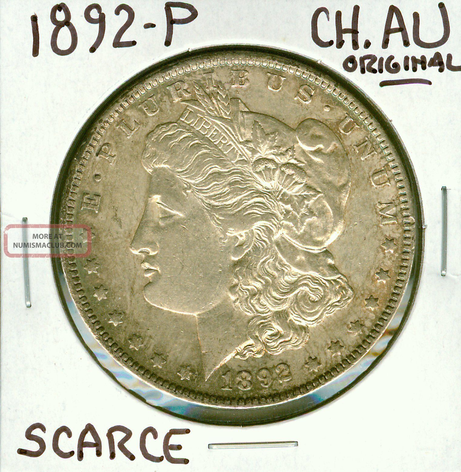1892 P Morgan Dollar Silver 1 Choice Almost