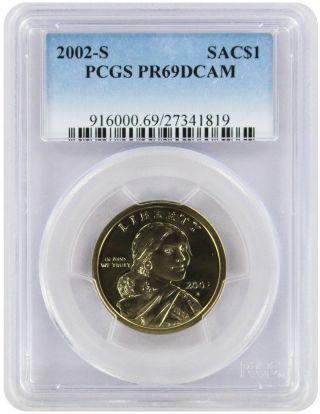 2002 - S Sacagawea Dollar Pr69dcam Pcgs Proof 69 Deep Cameo photo