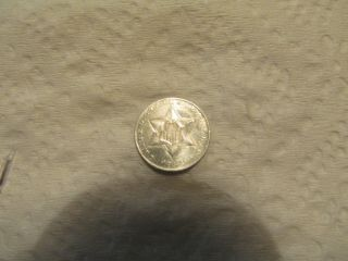 1856 Three 3 Cent Silver Coin Bu/ms photo