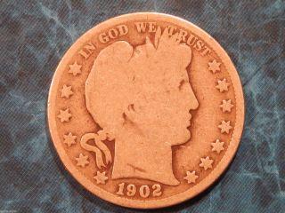 1902 Barber Silver Half Dollar 50c Coin Id Bh001 photo