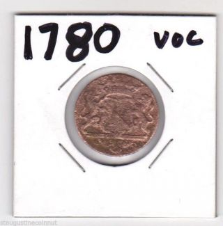 1780 Voc Dutch East India Trading Company York Penny 235 Years Old photo