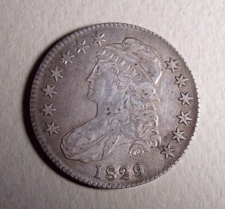 1829 Capped Bust Half Dollar - (see Photos For Details & photo