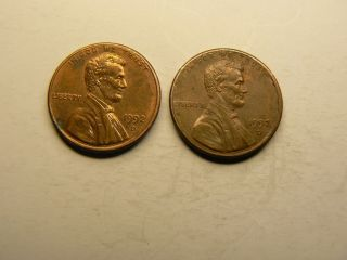 1992 - D 1c Circulated Denver Double Die Lincoln Cent photo