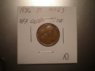 1936 Lincoln Cent Off Center Coin photo
