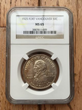 1925 Ngc Ms 65 Fort Vancouver Silver Commemorative photo