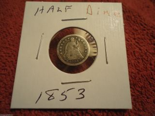 1853 // Seated Half Dime // One Price // D10 photo