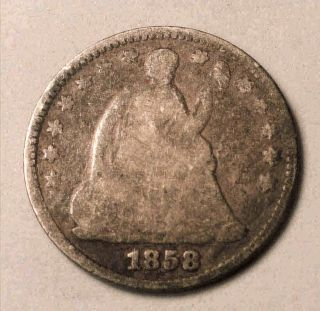 1858 Seated Half Dime photo