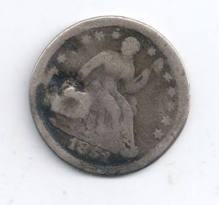 1851 - O Seated Liberty Half Dime 90 Silver photo