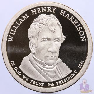 2009 S Presidential Dollar William Henry Harrison Gem Deep Cameo Proof photo