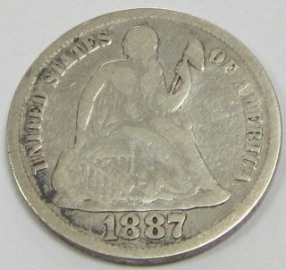 1857 Us Seated Liberty Half Dime 1 photo