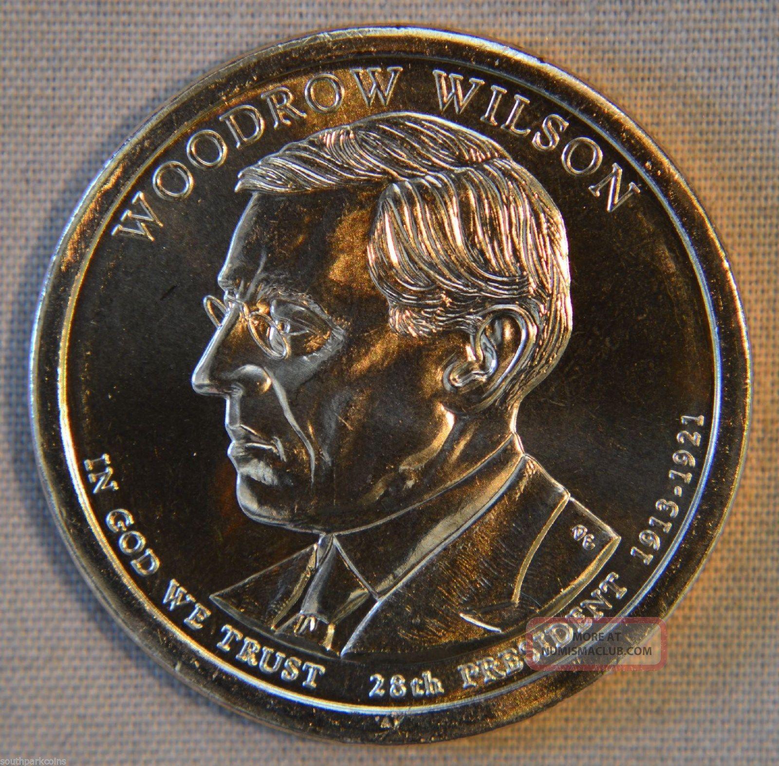2013 - D Woodrow Wilson Uncirculated Presidential Dollar - Single Dollars photo