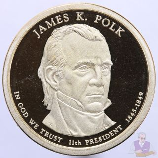 2009 S Presidential Dollar James K.  Polk Gem Deep Cameo Proof photo
