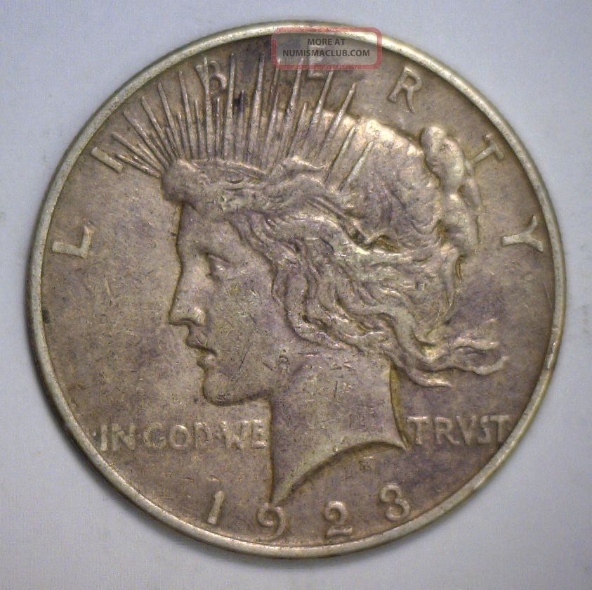 1923 D Peace Silver Dollar Ef Xf Extra Fine Denver Issue Dollars photo