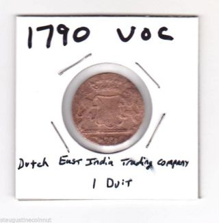 1790 Voc Dutch East India Trading Company.  York Penny.  See Scans photo