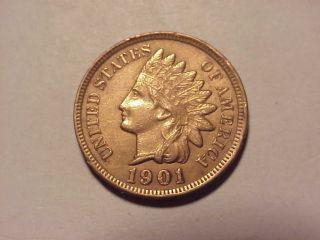 1901 Indian Head Cent Au Details photo