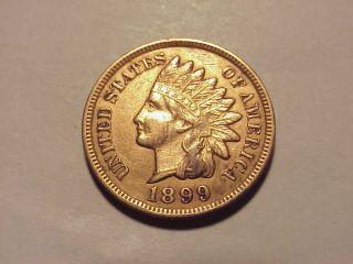 1899 Indian Head Cent Au Details photo