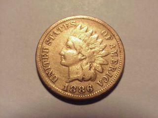 1886 Indian Head Cent Fine,  Details photo