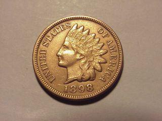 1898 Indian Head Cent Au Details photo