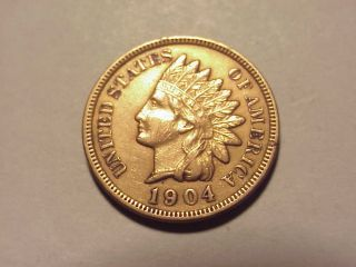 1904 Indian Head Cent Au Details photo