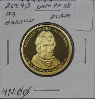2009 - S Presidential Dollar Pf William Henry Harrison photo